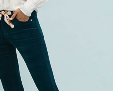 Bootcut pants for pear shape in turquoise