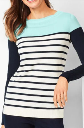 Colorblock sweater from Talbots
