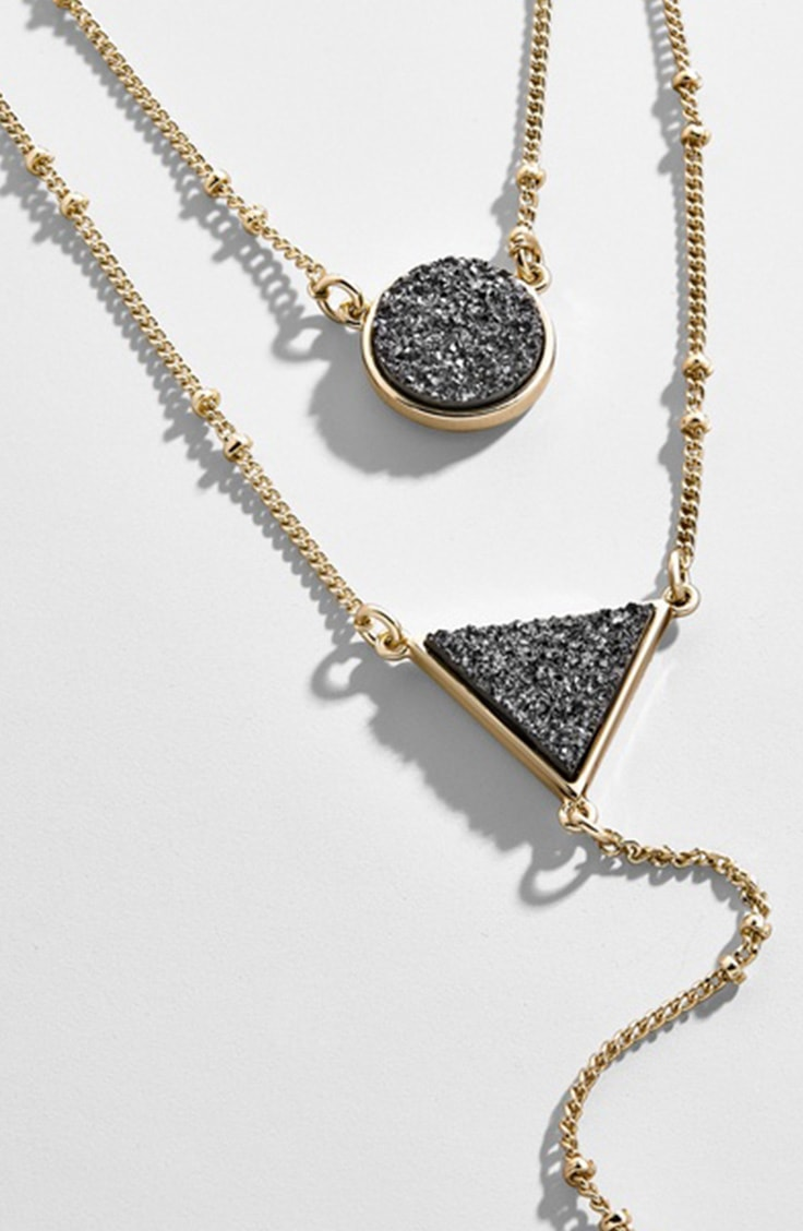 Mothers day gift idea under 40 -- druzy necklace