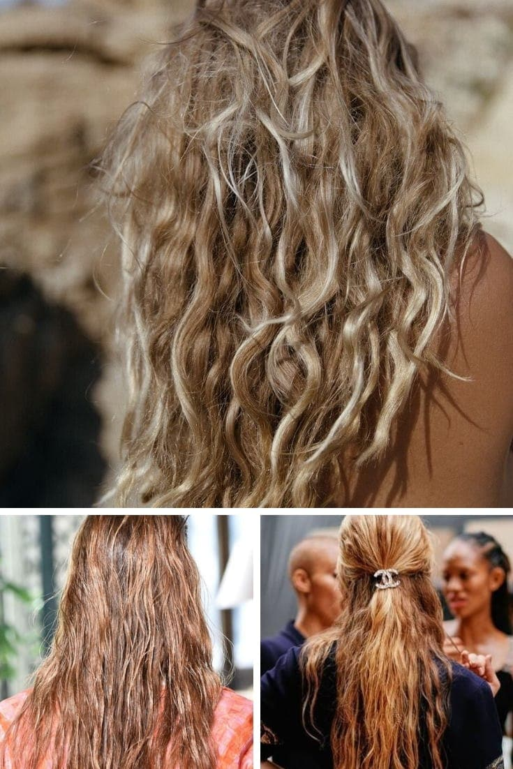 Spring hair trends: Collage of three natural hair texture hairstyles