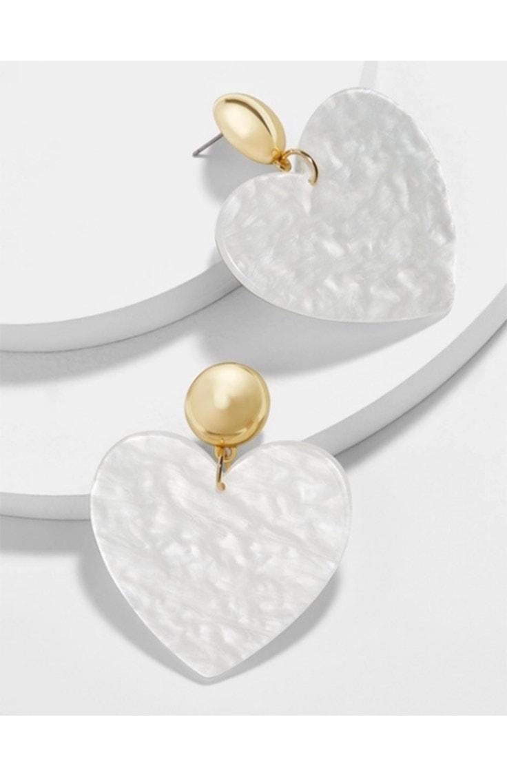 Bauble Bar heart inspired earrings