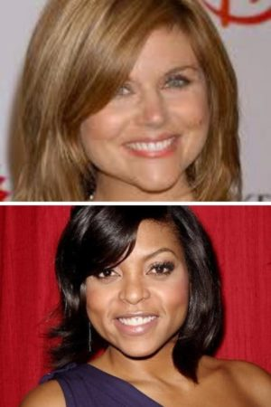 Tiffany Thiesen and Taraji Henson with bangs hairstyles