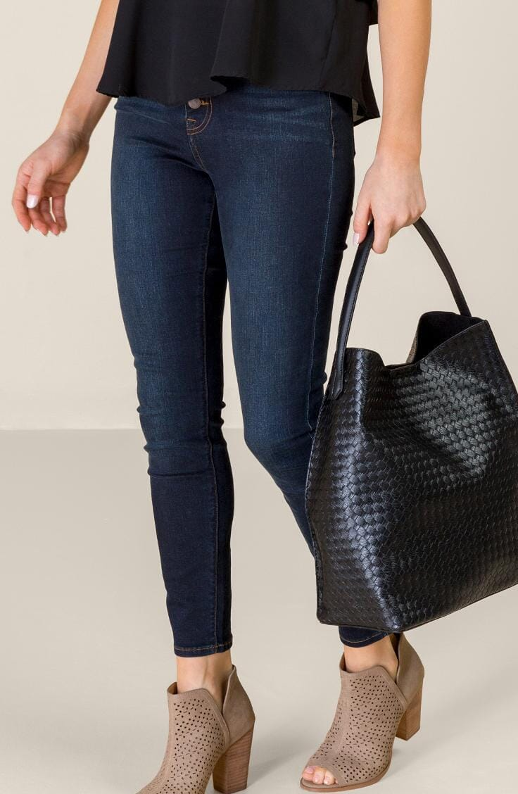 Woven black hobo bag for mothers day gift idea