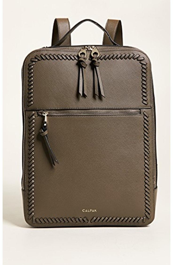 Olive green laptop backpack