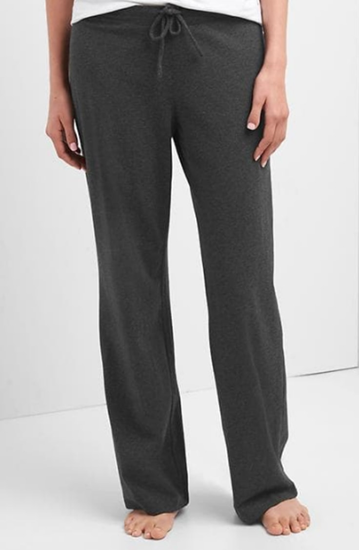 Gray lounge pants from GAP