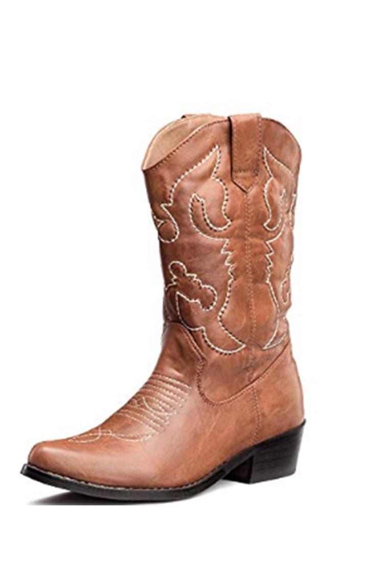 Mid-calf cowboy boot