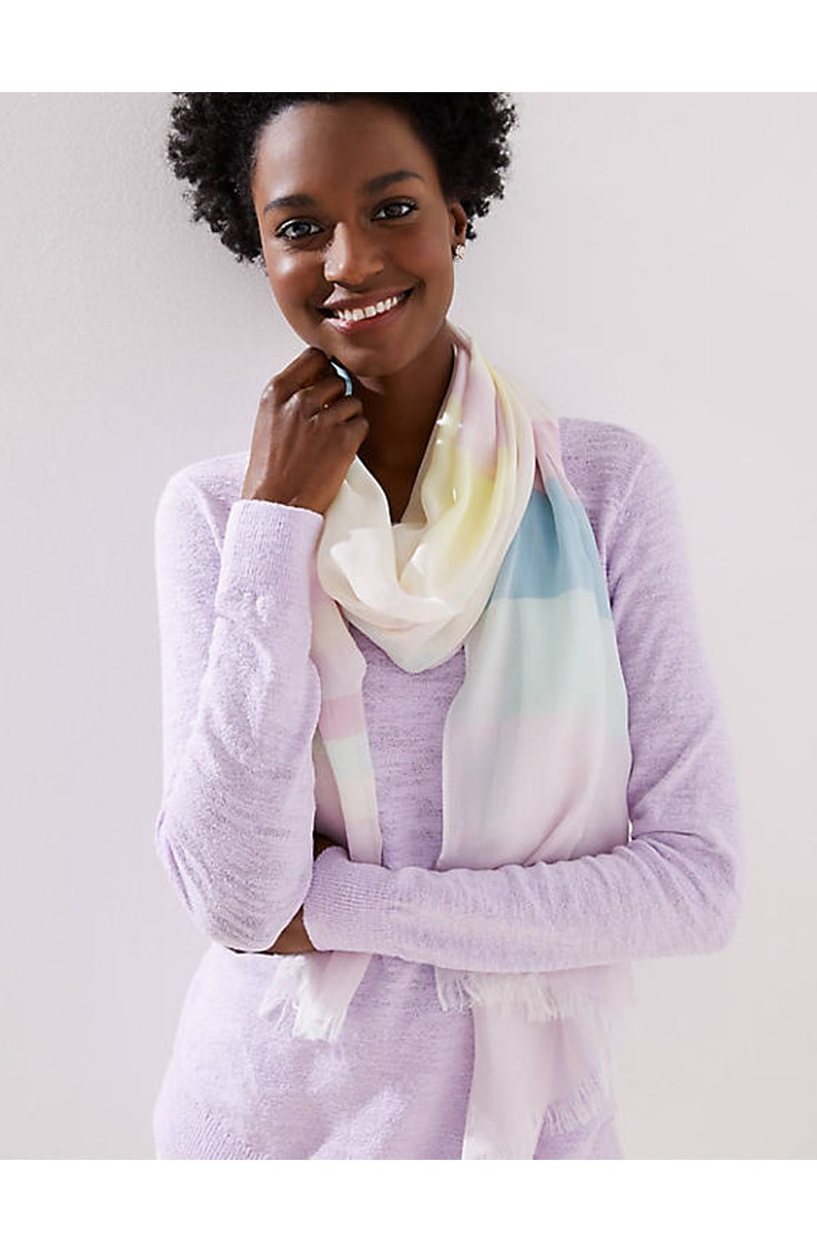 LOFT Colorblock scarf -- mothers day gift under $40