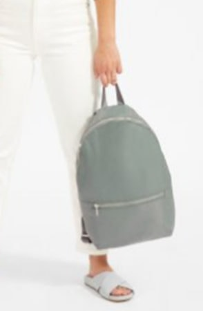 Green packable backpack