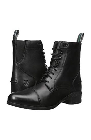 Black equestrian paddock boots