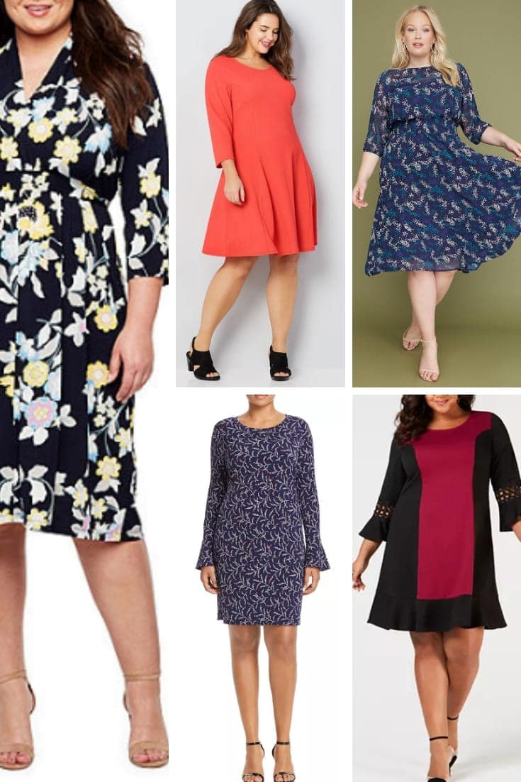 Plus size dresses for pear shapes.