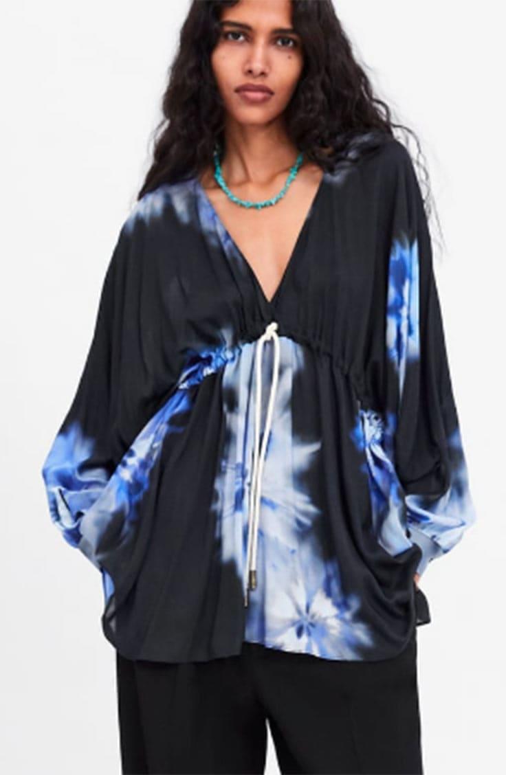 Tie dye trend blouse from Zara
