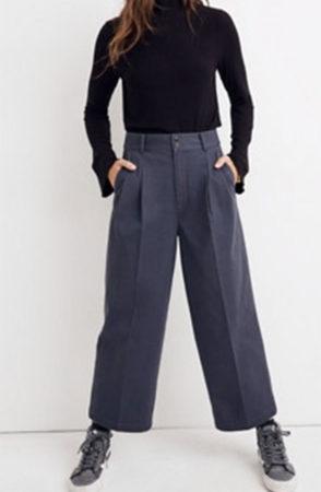 Spring transition wear: wide-legged pants