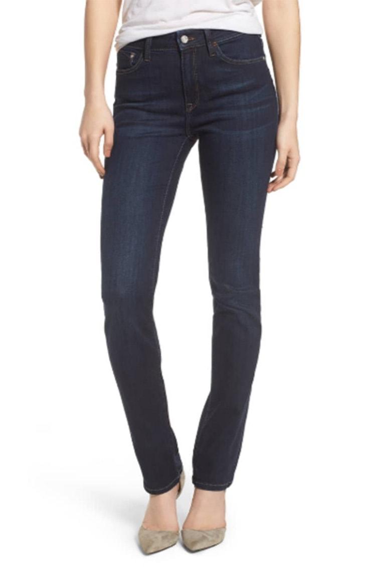 Dark wash, skinny leg jeans