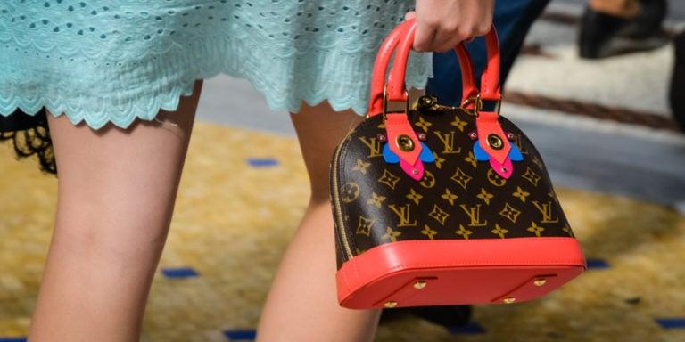 Close up of Louis Vuitton bag