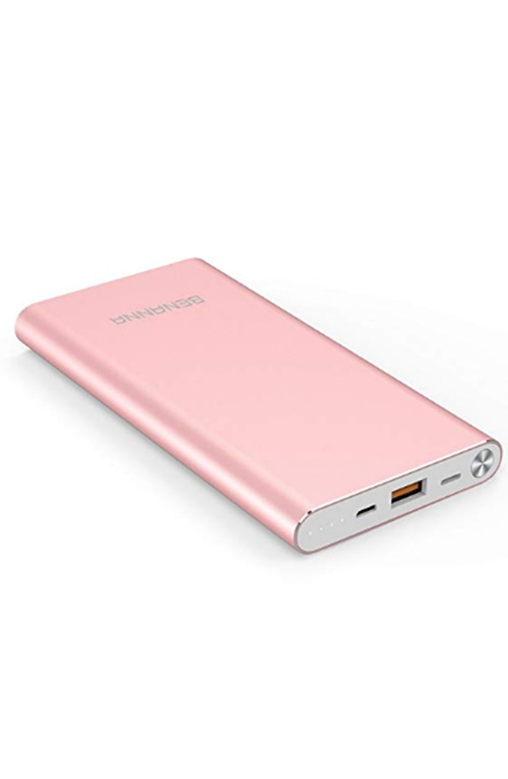 pink portable battery pack for iphone