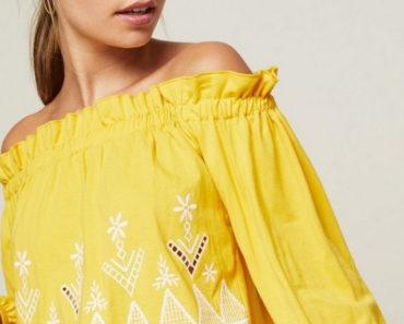 Petite sleeveless top in yellow