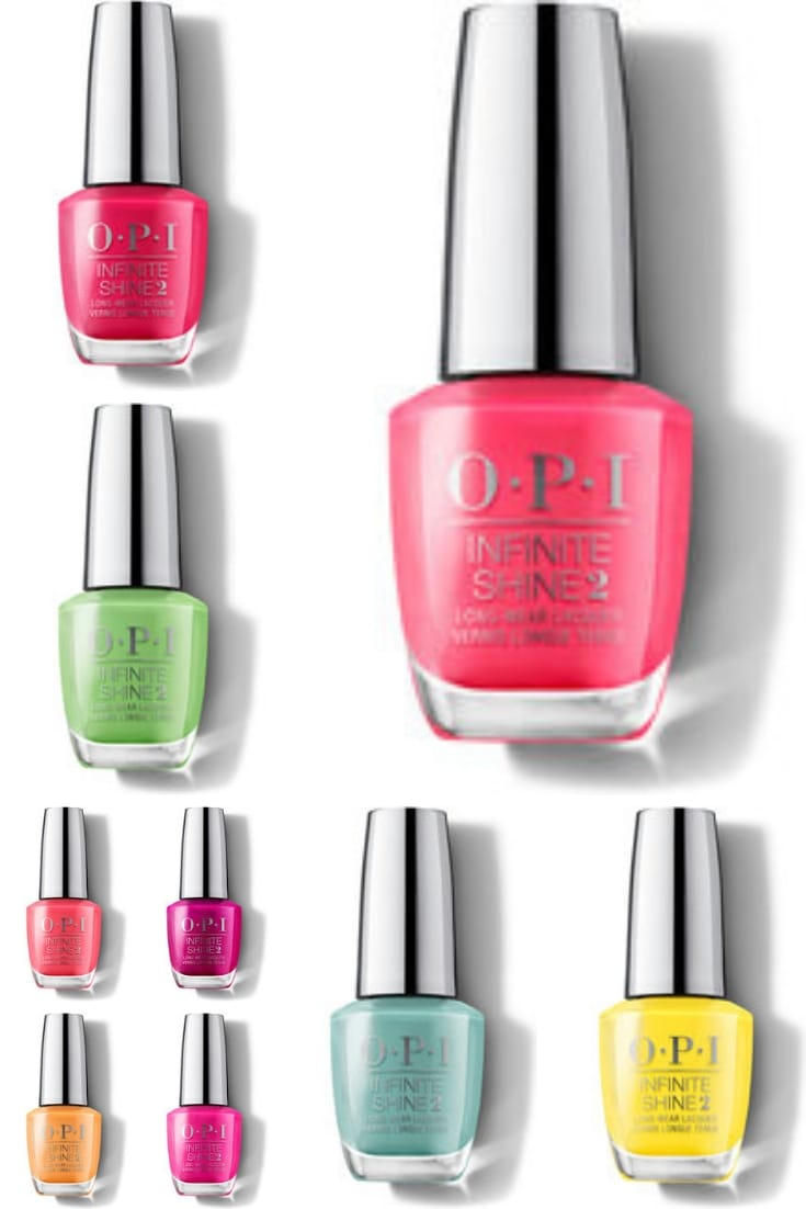 Collection of OPI neon nail colors