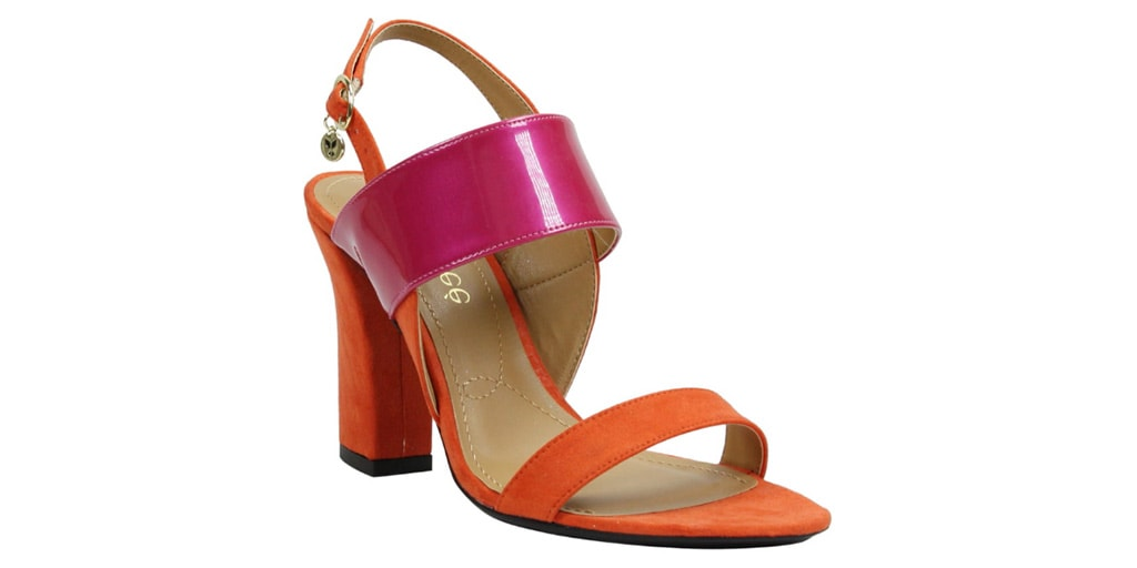 Pink and orange sandal