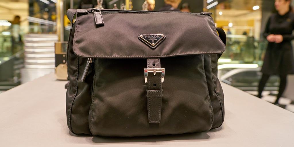 Prada designer handbag