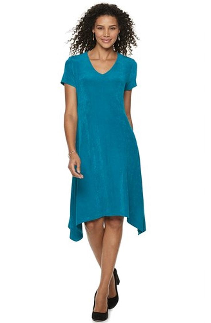 Turquoise shark bite dress