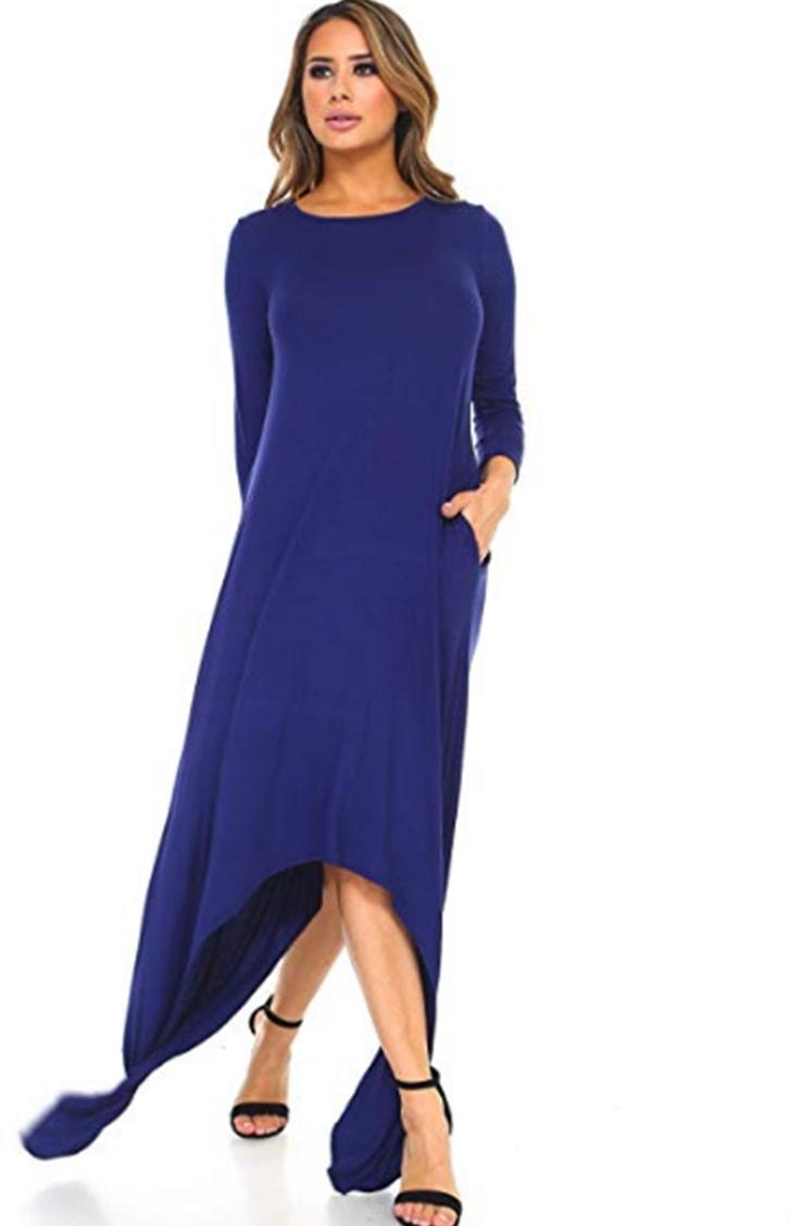 Royal blue shark bite dress