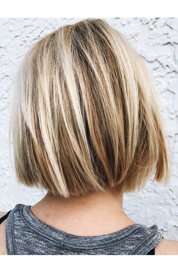 Spring hair trends -- neck baring haircut with textured ends