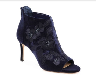 Blue textured booties by Vince Camuto