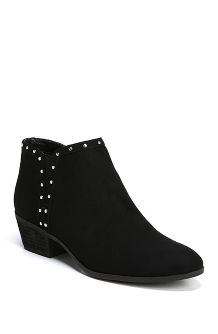 Black studded ankle boot