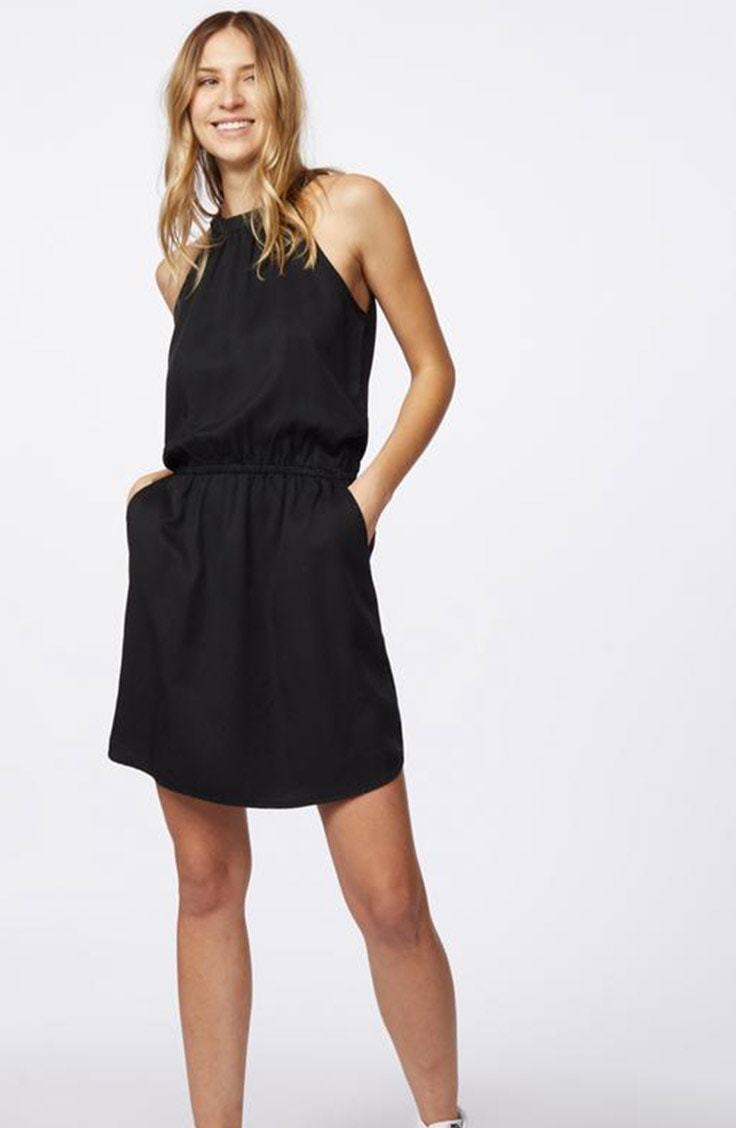 Black sustainable dress from 10 Trees