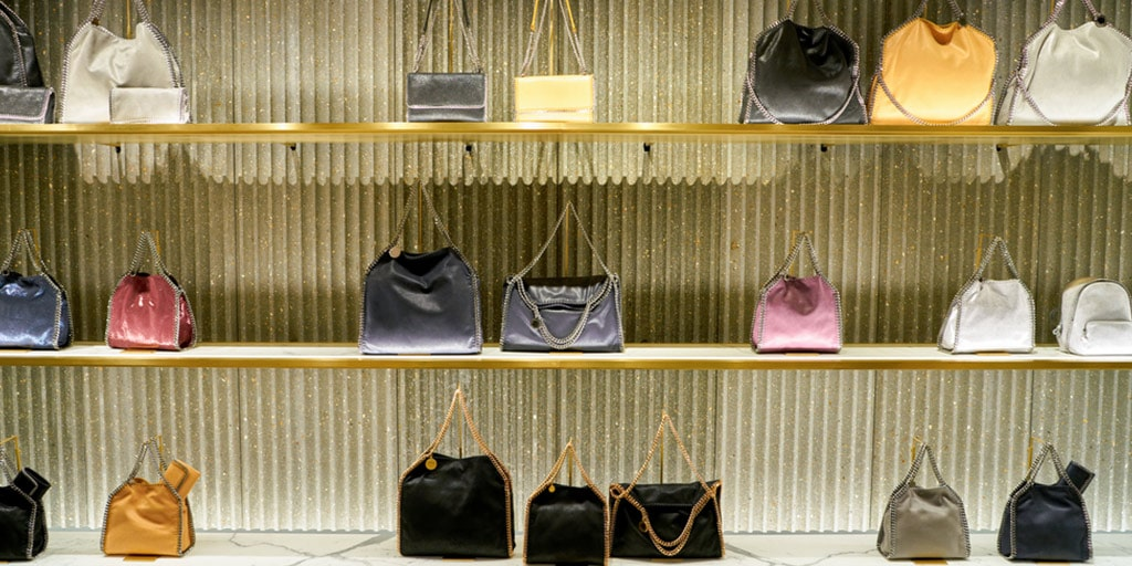 Stella McCartney bags on display