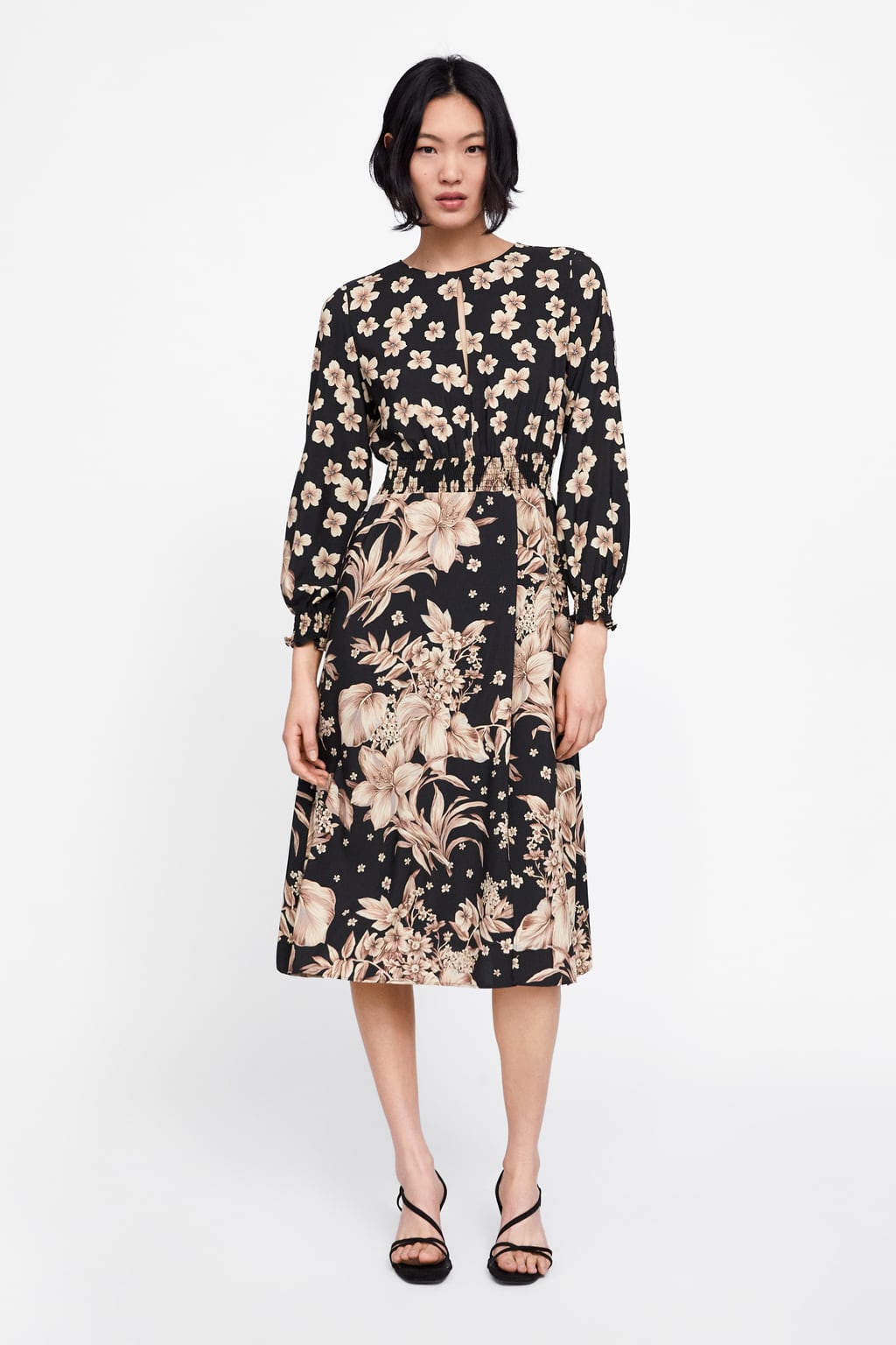 Floral print dress from Zara