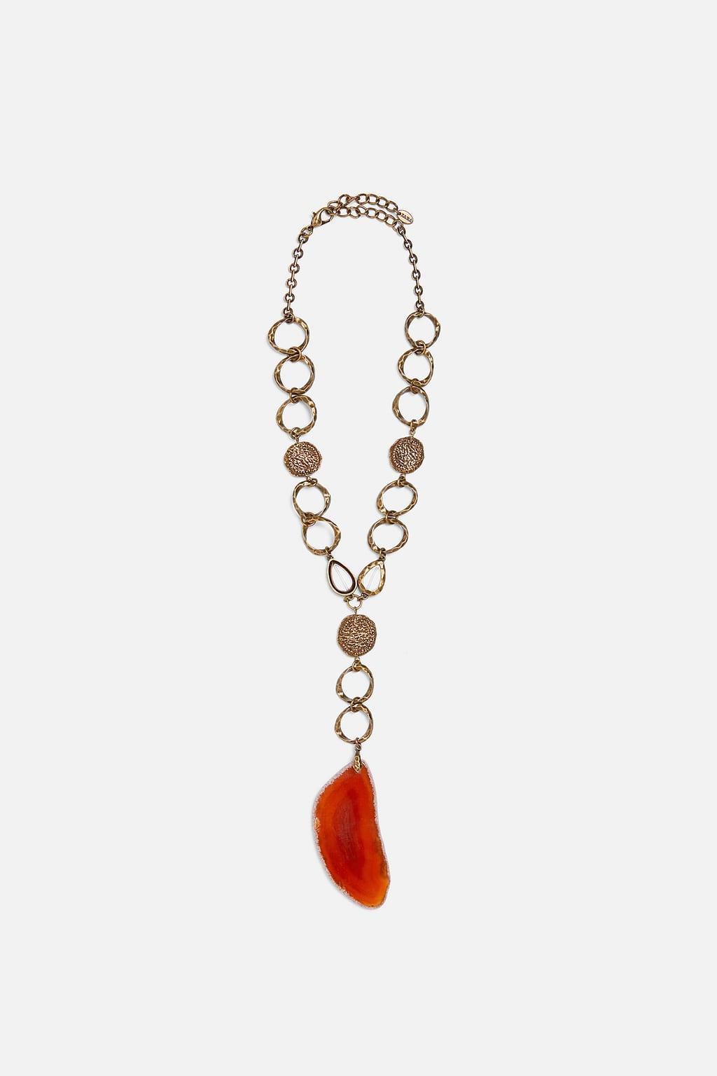 beaded necklace from Zara