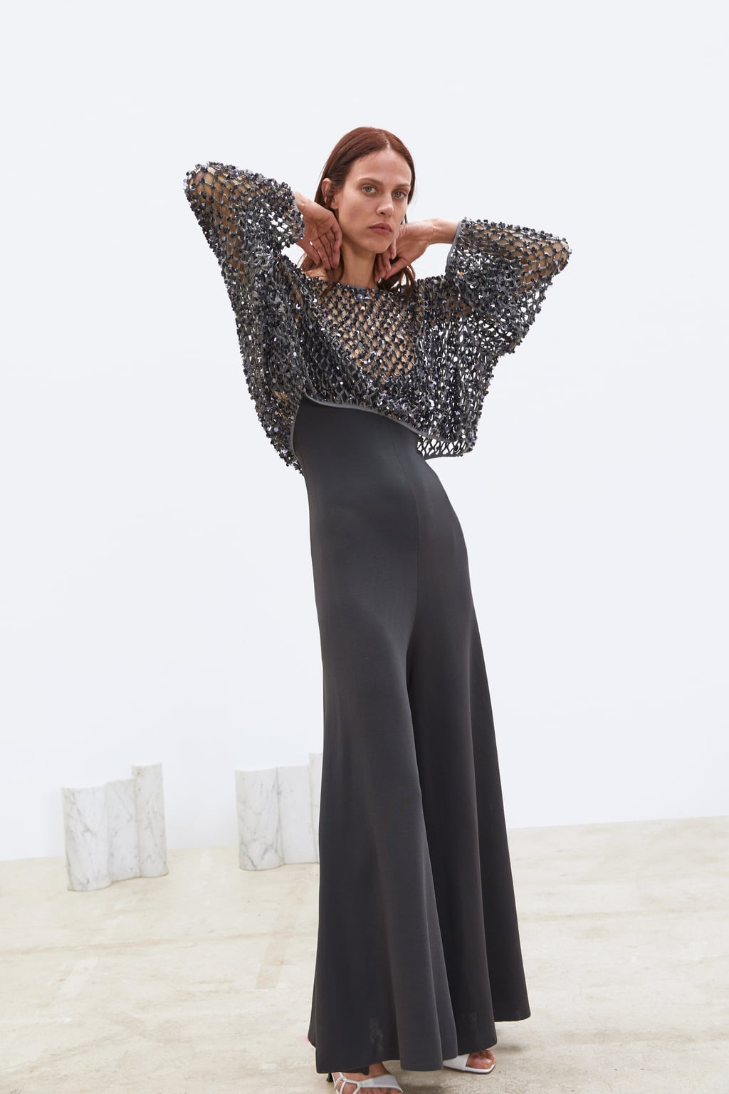mesh sequined sweater from Zara