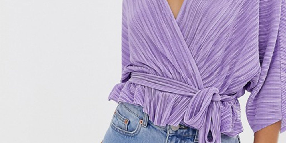 Purple wrap top