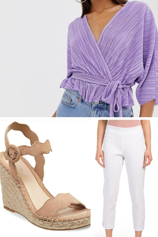 Outfit collage —casual chic outfit for petites