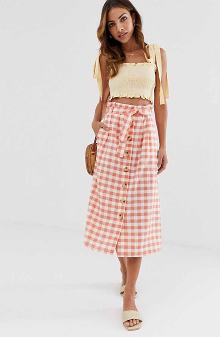 Gingham maxi skirt from ASOS Trending Now