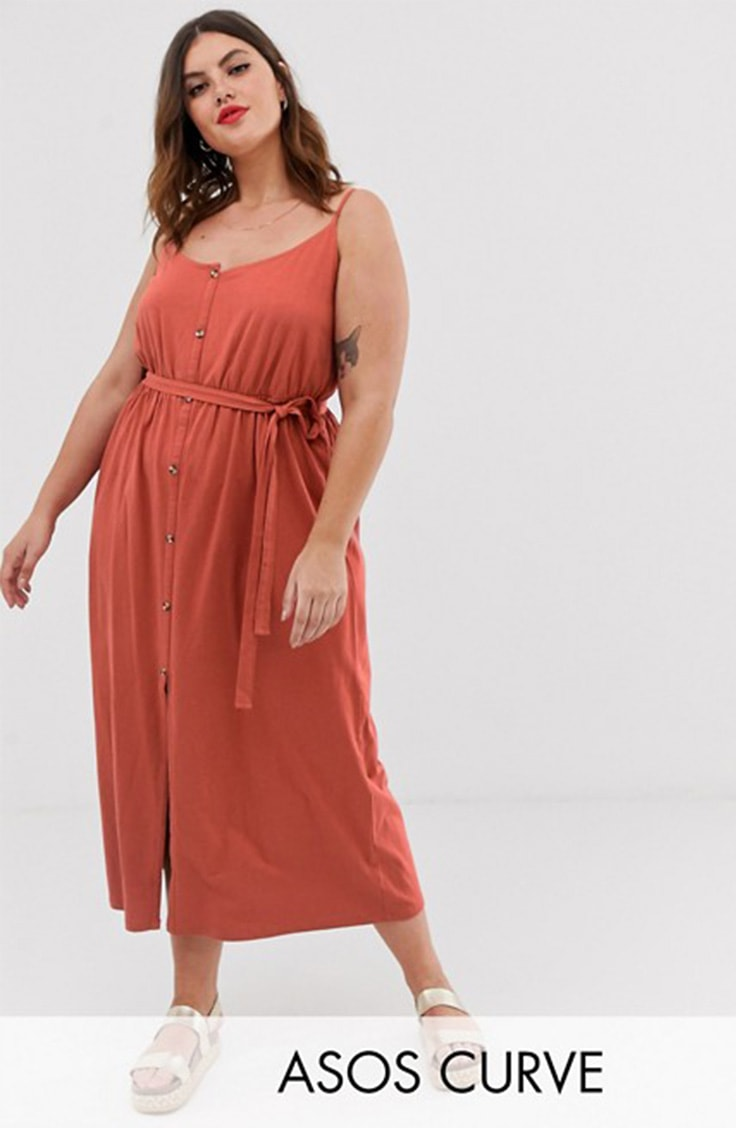 Tie waist maxi dress from ASOS