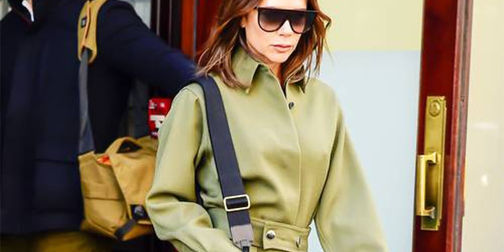 Victoria Beckham wearing a boilersuit