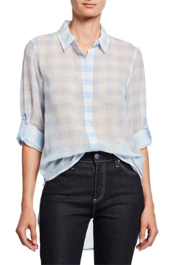 Lightweight gingham women's shirt