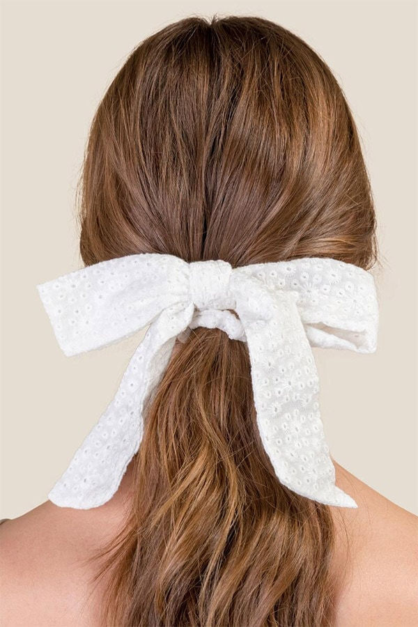 Scarf tied in bow