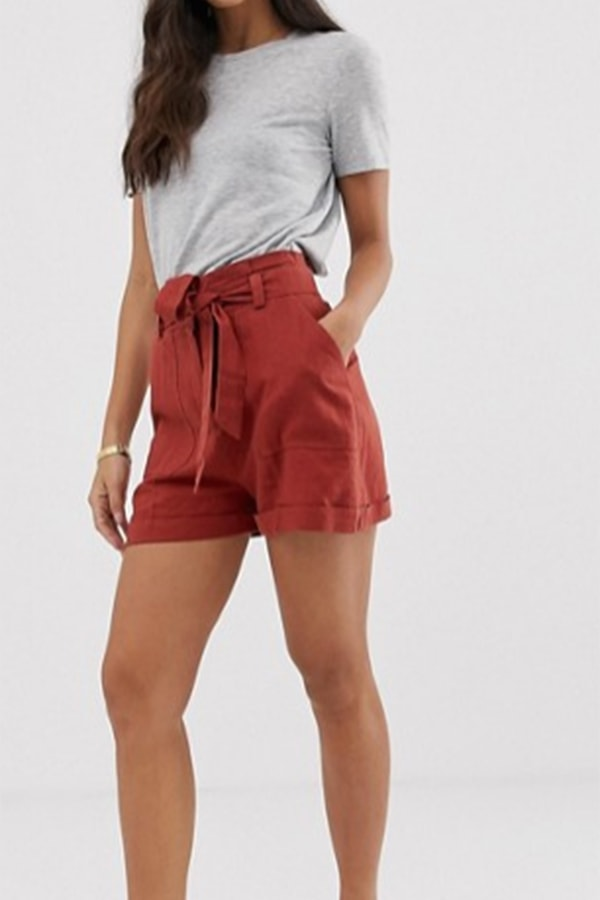 High-waisted utility shorts by ASOS