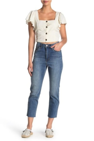 Mom jeans and crop top