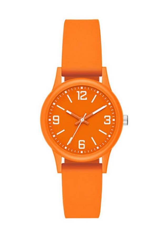 Neon orange watch