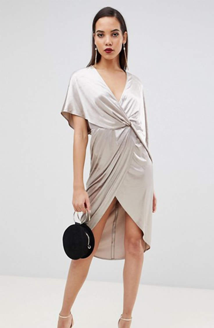 What to wear in Las Vegas: Draped velvet dress