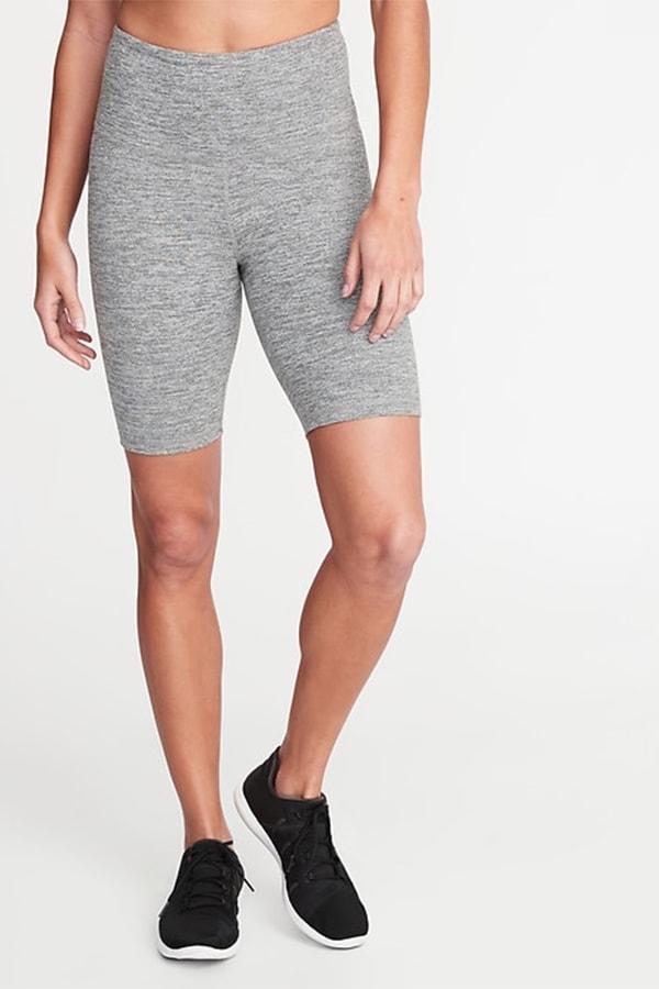 Gray bike shorts