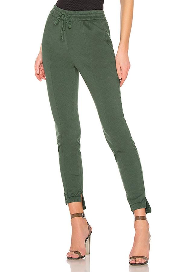 Olive green sweatpants