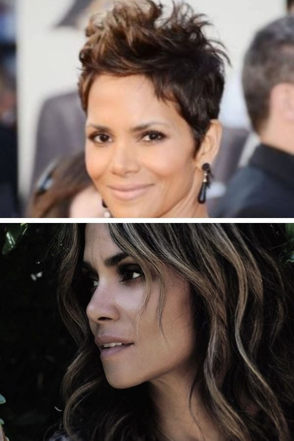 Best celebrity haircuts: Halle Berry then and now