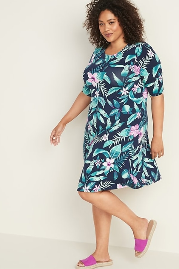 Floral shift dress for when you're losing weight