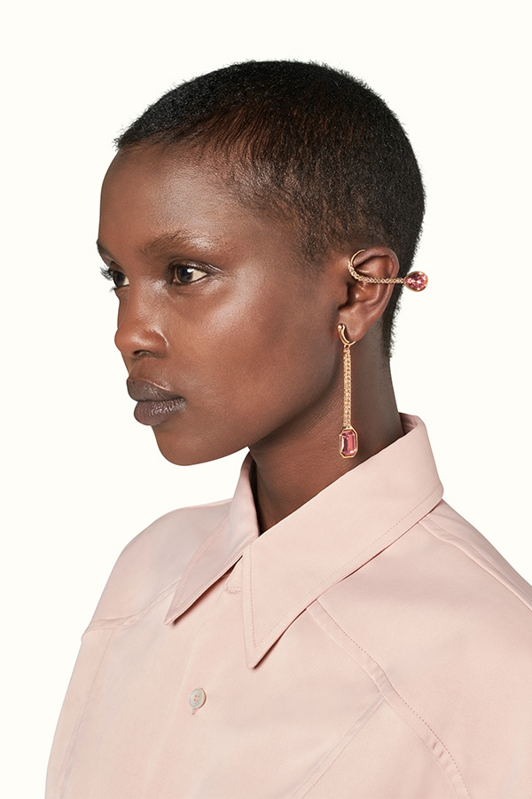 Dramatic ear cuffs by Fenty