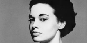Black and white photo of Gloria Vanderbilt